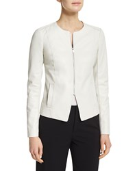 Vince Tailored Slim Fit Leather Jacket Men's Size 0 Winter White