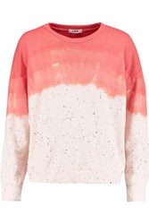 Lna Napali Tie Dyed Cotton Blend Jersey Sweatshirt Orange