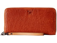 Will Leather Goods Imogene Checkbook Orange Checkbook Wallet