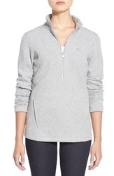 Women's Tommy Bahama 'Aruba' Half Zip Sweatshirt Fossil Grey Heather