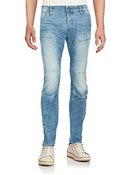 G Star Deconstructed Tapered Jeans Light Aged