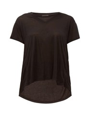 Atm Anthony Thomas Melillo Slouchy V Neck T Shirt Black