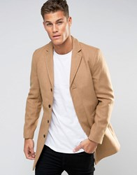 Selected Homme Overcoat Camel Beige