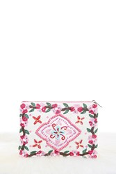 Forever 21 Charade Floral Clutch Natural Multi