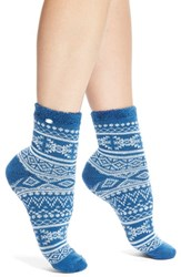Women's Ugg Australia Fair Isle Fleece Socks Blue Blue Jay