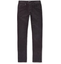 Tom Ford Charcoal Slim Fit Cotton Blend Corduroy Trousers Gray