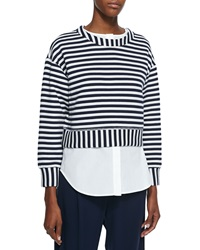 Derek Lam 10 Crosby Striped 2 In 1 Sweatshirt