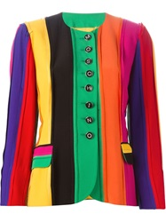 Moschino Vintage Striped 3 4 Sleeve Jacket Multicolour