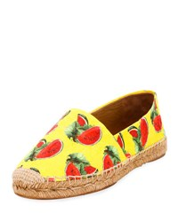 Dolce And Gabbana Printed Flat Espadrille Multi