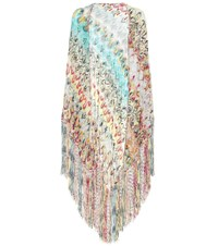 Missoni Knitted Cotton Blend Scarf Multicoloured