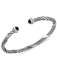 Peter Thomas Roth Onyx Cuff Bracelet 2 1 6 Ct. T.W. In Sterling Silver Black