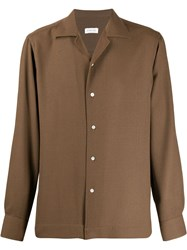 Caruso Button Up Shirt Brown