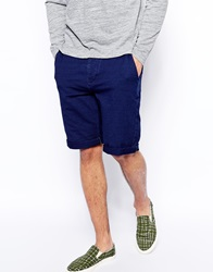 Asos Jersey Shorts In Longer Length Blue