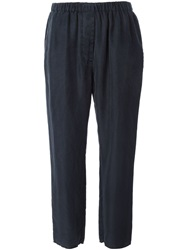Hache Washed Casual Trousers Blue