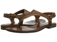 Frye Carson Seam T Cognac Soft Vintage Leather Women's Sandals Brown