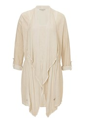 Betty And Co. Long Cotton Cardigan Cream