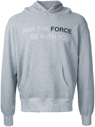 Anrealage Star Wars Quote Hoodie Grey