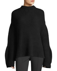 Ryan Roche Oversized Knit Cashmere Sweater Black