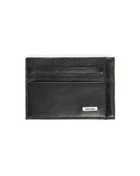 Calvin Klein Black Leather Card Wallet