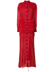 Y Project Gathered Maxi Shirt Dress