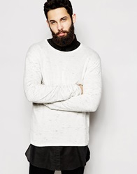 Cheap Monday Crew Knit Jumper Space Dye Fleck Melange Creamspacemelange
