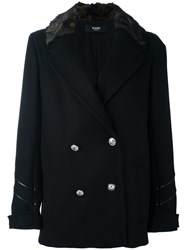 Versus Double Breasted Military Jacket Black