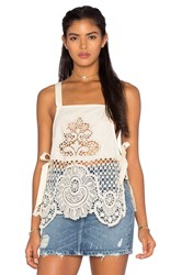 For Love And Lemons Gracey Top Ivory