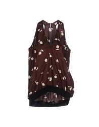 Liviana Conti Topwear Tops Women Dark Brown
