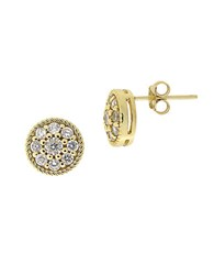 Lord And Taylor Cubic Zirconia Flower Stud Earrings White