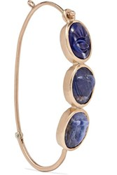 Pascale Monvoisin I Love You 9 Karat Gold Sodalite Earring One Size