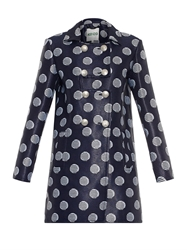 Kenzo Dot Jacquard Double Breasted Coat