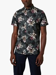Ted Baker Verre Floral Shirt Mid Green