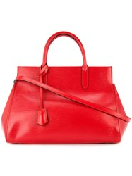 Louis Vuitton Vintage Marly Mm 2Way Tote Red