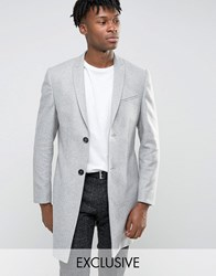 Noak Skinny Smart Overcoat Light Grey