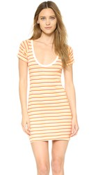 Edith A. Miller Scoop Neck Mini Dress Orange Sr Sunset Stripe