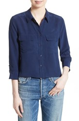 Equipment Women's 'Signature' Crop Three Quarter Sleeve Shirt