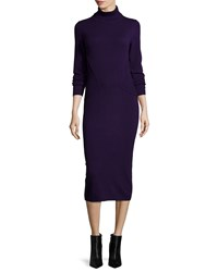 Lafayette 148 New York Long Sleeve Turtleneck Cashmere Dress Majestic Women's