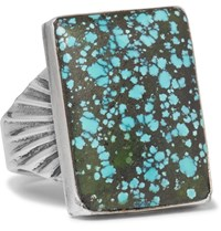 Foundwell Vintage 1980S Silver Turquoise Ring Blue