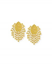 Alexander Laut Yellow Sapphire Fringe Earrings In 18K Gold