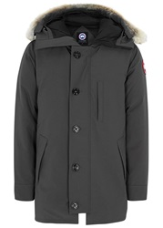 Canada Goose Chateau Charcoal Fur Trimmed Twill Parka
