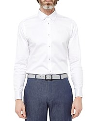 Ted Baker Timetoo Satin Classic Fit Button Down Shirt White
