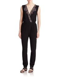 Twelfth St. By Cynthia Vincent Printed Jersey Jumpsuit Black
