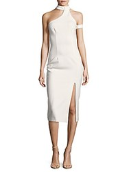 Finders Keepers Solid Asymmetric Dress White