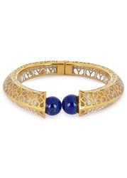 Isharya Temple Muse Gold Plated Lapis Bracelet Blue