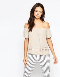 Minimum Ulle Off The Shoulder Top Dusty Sand Pink