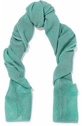 M Missoni Open And Crochet Knit Scarf Jade