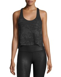 Alo Yoga Step Tank Racerback Top Charcoal