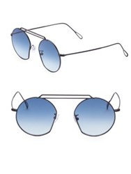 Kyme 49Mm Round Sunglasses Blue