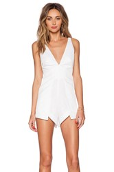 Bless'ed Are The Meek Still Night Playsuit White