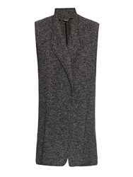 Vince Open Front Sleeveless Tweed Gilet